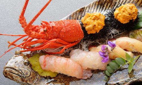 伊勢海老とウニのお寿司